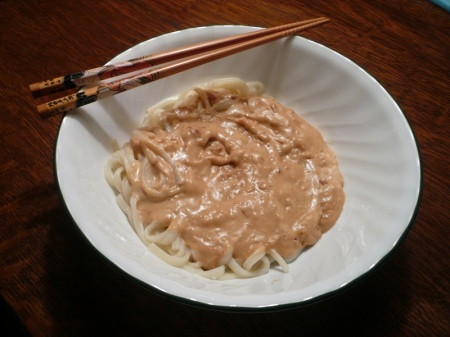 Udon and Peanut Sauce