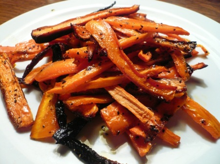 Carrot Fries Close Up