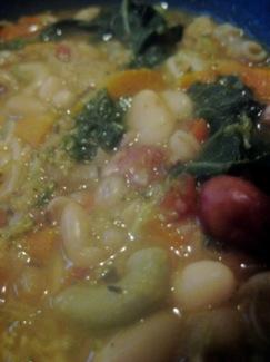 minestrone close up