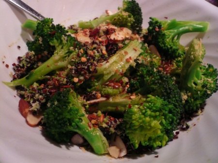 Quinoa Broccoli Close Up