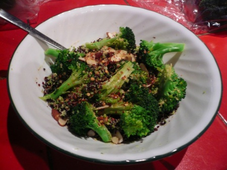 First up: Double Broccoli Quinoa, courtesy of 101 Cookbooks !