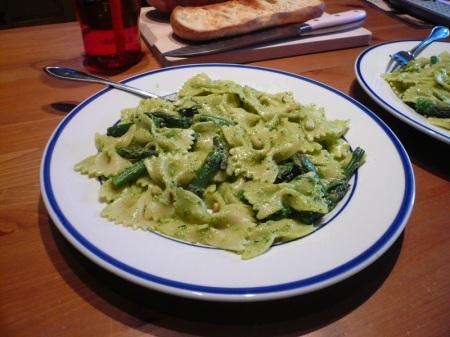 Asparagus And Ramp Pesto Pasta Recipe — Dishmaps