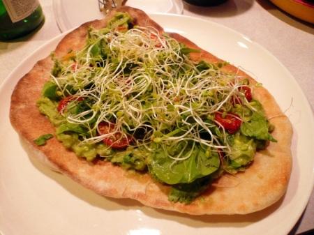 Guacamole Naan Pizza